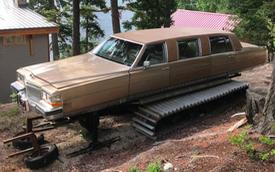 Tưởng sang như xe Tổng thống, limousine Cadillac lại bị biến thành xe ủi