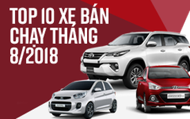 10 xe bán chạy nhất tháng 8/2018: Toyota Fortuner trở lại ngoạn mục, Vios lấy lại ngôi vương