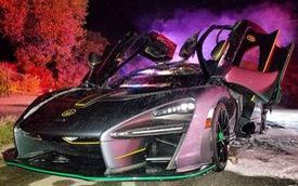 Chưa kịp đón năm mới 2019, siêu xe triệu USD hàng hiếm McLaren Senna cháy rụi