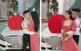 'Soái ca' 1997 lái Mercedes-Benz C250 Exclusive quỳ gối tặng 999 bông hồng cho cô gái giống Hoa hậu Đại dương nhân ngày Valentine