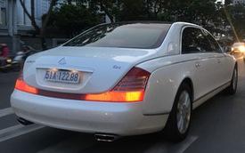 """Maybach 62S màu trắng hàng hiếm thuộc bộ sưu tập """"hầm gửi xe triệu đô"""" của đại gia Sài Gòn"""