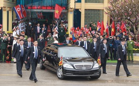 Chủ tịch Triều Tiên đến Việt Nam, chiếc Mercedes-Benz S600 Pullman Guard chống đạn cùng dàn xe chuyên dụng hộ tống