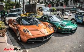 Đại gia Sài Gòn mang dàn siêu xe hàng trăm tỷ lên phố ngay sát Tết, Pagani Huayra và Acura NSX 'hàng độc' xuất hiện