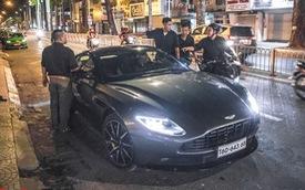 Aston Martin DB11 V8 lần đầu xuống phố cùng Mercedes-AMG SLS GT Final Edition của nhà chồng Hà Tăng, tấm biển số đáng chú ý
