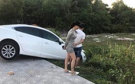 Xe hơi gặp tai nạn nhưng người ta chỉ quan tâm đến cô gái đứng bên vì ngoại hình nổi bật