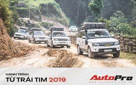 Hành trình từ trái tim lên tới Lai Châu ngày càng nhiều thách thức, đoàn Range Rover phải nâng gầm hết cỡ để vượt qua