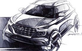 Hyundai Venue - Đàn em Kona lộ diện ảnh phác thảo mới: Khó tin khác biệt nội/ngoại thất