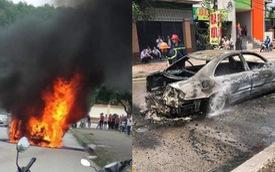 Mercedes biển Hà Nội đón dâu bỗng bốc cháy giữa đường Nghệ An, nguyên nhân càng gây tò mò