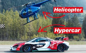 Siêu xe McLaren Senna thử sức với trực thăng và cái kết khó đoán