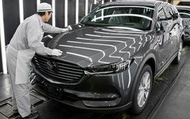 Mazda CX-8 đã được lắp ráp tại Việt Nam, chờ ngày mở bán đấu Hyundai Santa Fe