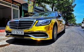 Đại gia Sài Gòn giả Mercedes-Benz S-Class như Maybach dát vàng Trung Đông, logo mâm xe như Rolls-Royce