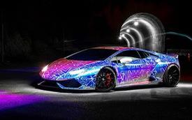 Rapper Chris Brown độ Lamborghini phong cách tắc kè hoa làm nức lòng người hâm mộ