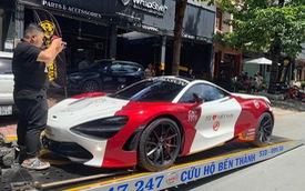 McLaren 720S của trưởng đoàn Car Passion trên đường vận chuyển ra Hà Nội