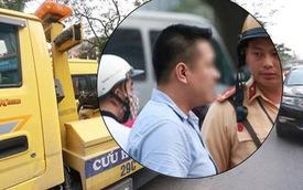 Hà Nội: Tài xế Hyundai Santa Fe dừng đèn đỏ rồi ngủ quên nửa tiếng, CSGT phải đến cẩu cả xe cả người đi
