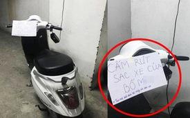 Dán giấy cảnh báo kẻ rút sạc điện, lời lẽ hống hách của chủ xe gây 'nóng mắt'