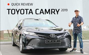 Đánh giá nhanh Toyota Camry 2019: Áp lực lớn của Mazda6 và Honda Accord