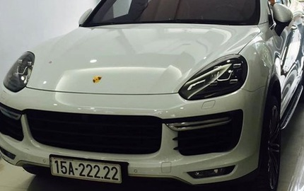 """Xe sang Porsche Cayenne Turbo 2015 biển ngũ quý """"chơi trội"""" tại Hải Phòng"""