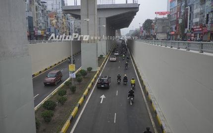 Quang cảnh ngày đầu thông xe hầm chui Nguyễn Trãi - Khuất Duy Tiến