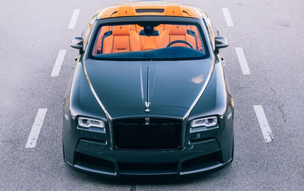 Xe siêu sang Rolls-Royce Dawn đầu tiên độ thân rộng