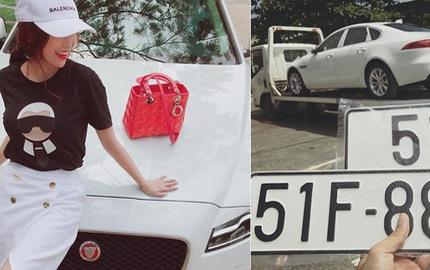 Xe sang Jaguar XF Minh Nhựa mua tặng vợ đã có biển số