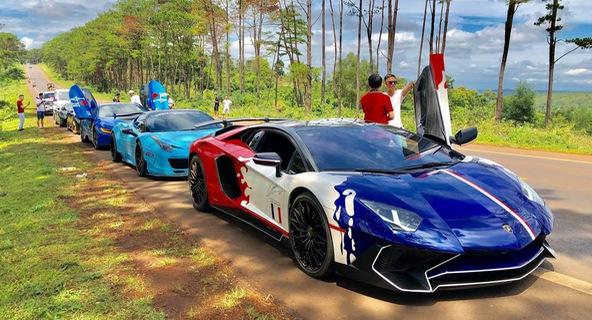 Hành trình tiền trạm Car & Passion 2019 xuyên đêm từ Sài Gòn lên Tây Nguyên của đoàn siêu xe Việt Nam