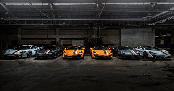 McLaren tung bộ sưu tập 6 chiếc 570S cùng lúc