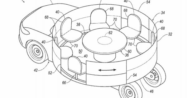 Trong tương lai, xe Ford có nội thất như… đu quay