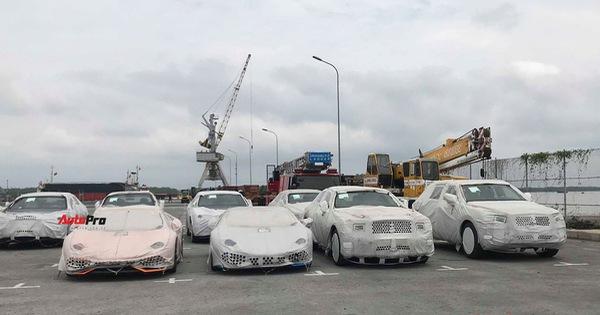 12 xe Bentley, Lamborghini chính hãng nằm ngoài trời tại cảng Hải Phòng chờ thông quan