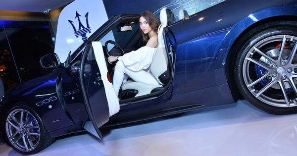 Hồ Ngọc Hà cầm lái xe mui trần Maserati GranCabrio Sport 2018 vừa ra mắt