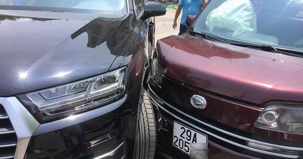 Audi Q7 đấu đầu Daihatsu Materia tại Hà Nội: Túi khí cả 2 xe nổ lại khiến nhiều người ngạc nhiên
