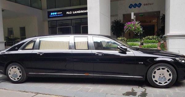 """Bắt gặp Mercedes-Maybach S600 Pullman mới """"tậu"""" của Chủ tịch tập đoàn FLC"""