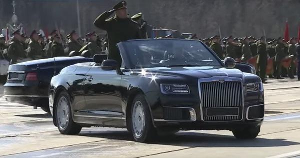 Aurus Convertible xuất hiện hoàn chỉnh, thiết kế không khác gì Rolls-Royce Phantom Drophead Coupe