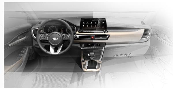 Kia tung ảnh nội thất SUV cỡ nhỏ hoàn toàn mới sắp ra mắt