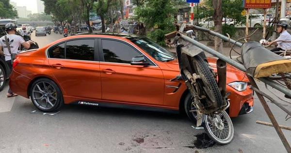 """Xe máy chở sắt vụn """"hôn má"""" BMW 3-Series độ M3 độc đáo"""