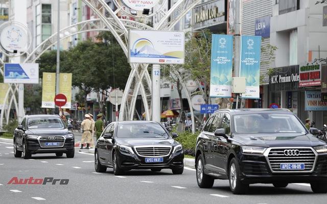 Cận cảnh đoàn xe Mercedes-Benz phục vụ nguyên thủ Malaysia và Việt Nam tại APEC 2017