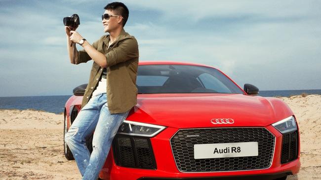 Lê Công Vinh lịch lãm bên siêu xe Audi R8 V10 Plus 2016