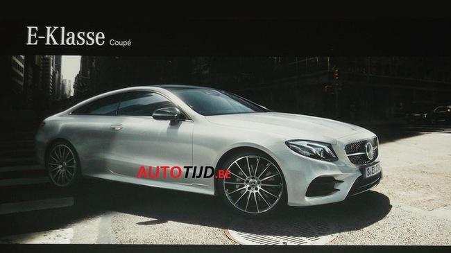 Xe sang Mercedes E-Class Coupe 2018 lộ diện trước giờ G