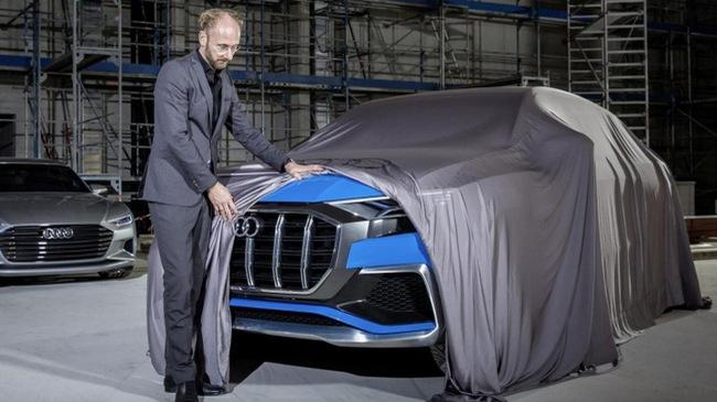 Audi Q8 E-tron, đối thủ của BMW X6, được hé lộ chân dung
