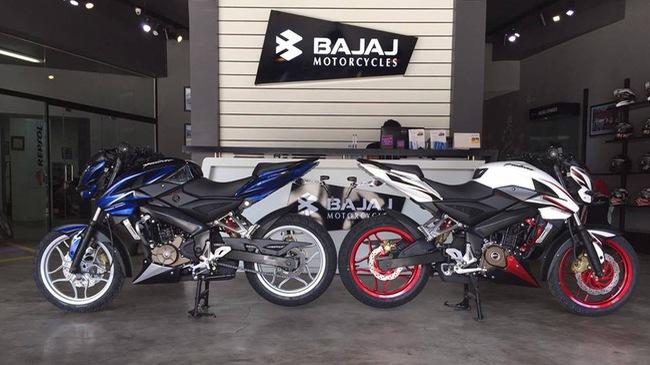 Xe naked bike Bajaj Pulsar 200NS phiên bản giới hạn ra mắt tại nước bạn Campuchia