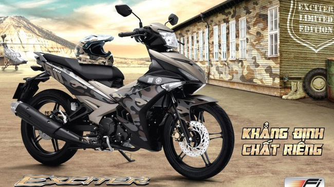 Yamaha Exciter 150 Camo và Movistar mới lặng lẽ ra mắt, giá tăng