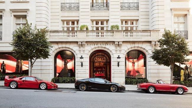 Ralph Lauren trưng bày bộ 3 siêu xe Ferrari hàng hiếm tại kinh đô thời trang của thế giới
