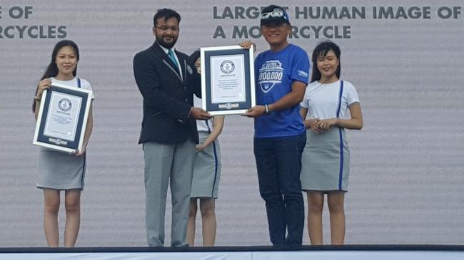 Yamaha Việt Nam lập 2 kỷ lục Guinness thế giới