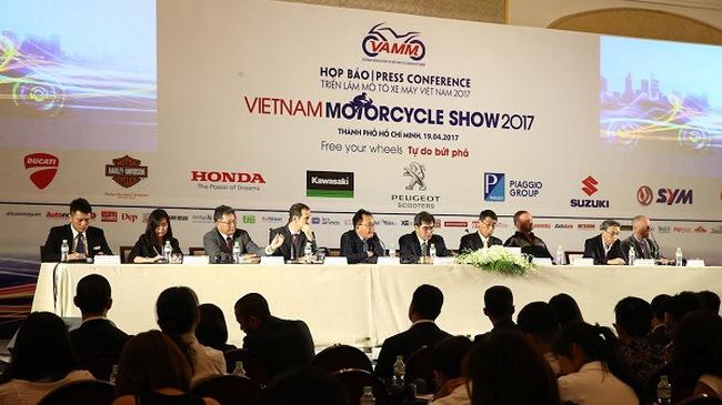 Triển lãm mô tô xe máy Việt Nam 2017 sẽ trình diễn 100 mẫu xe