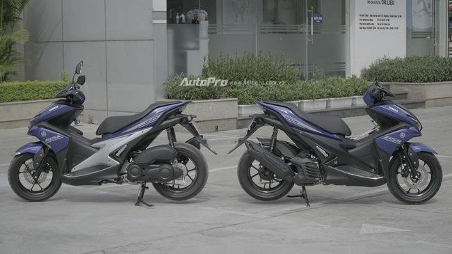 So sánh giảm xóc sau của Yamaha NVX sau khi được thay thế