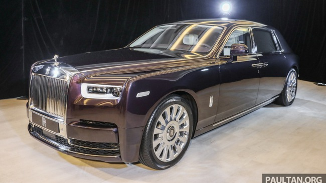 Xe siêu sang Rolls-Royce Phantom 2018 ra mắt Đông Nam Á với giá chưa thuế từ 11,8 tỷ Đồng