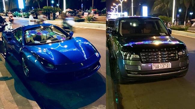 Siêu xe Ferrari 488 mui trần thả dáng cùng Range Rover SVAutobiography 12 tỷ Đồng tại Nha Trang