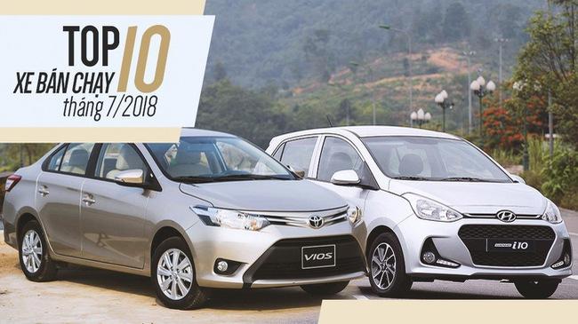 Hyundai Elantra đẩy Honda CR-V khỏi top 10 xe bán chạy tháng 7/2018
