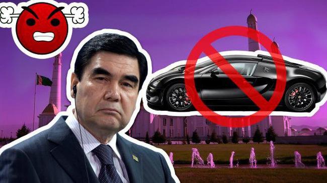 Turkmenistan: Cấm xe màu đen chỉ vì Tổng thống không thích