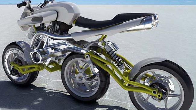 Xe máy 3 bánh… dọc