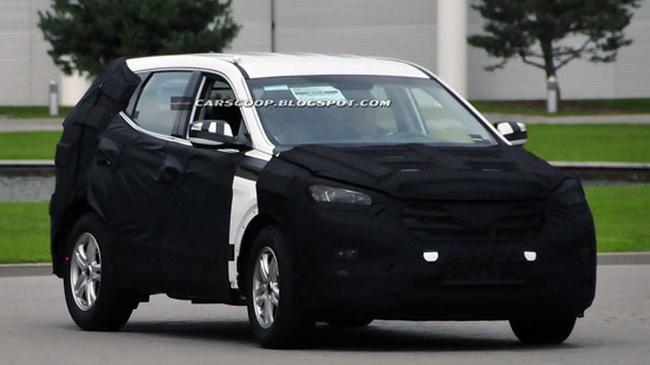 Ngắm Hyundai Santa Fe 2013 trên đường thử